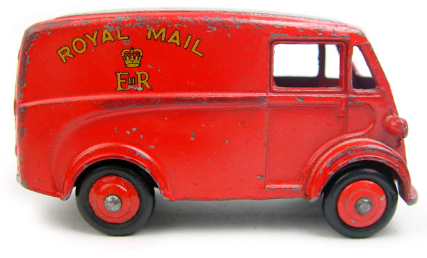 Photo of vintage Royal Mail van children's toy